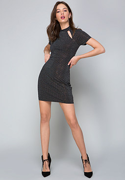 bebe Crystal Studded Dress