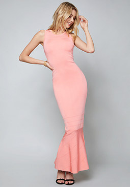 bebe Seamed Bandage Maxi Dress