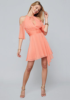 bebe Cold Shoulder Tie Dress