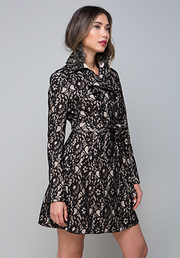 bebe Lace Trench Coat