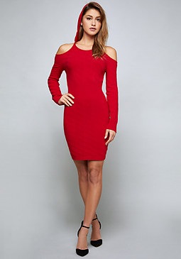 bebe Logo Cold Shoulder Dress