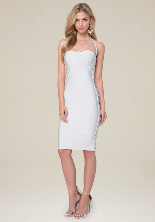 Side Crisscross Dress at bebe in Sherman Oaks, CA | Tuggl
