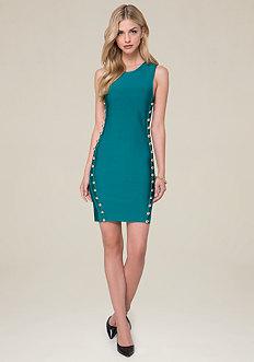 Leah Button Dress