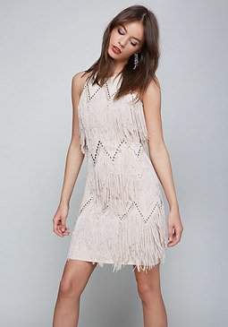 bebe Fringe Sheath Dress