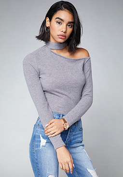 bebe Charlie One Shoulder Top