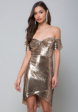 bebe Drew Sequin Dress