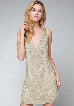 bebe Embellished Shift Dress