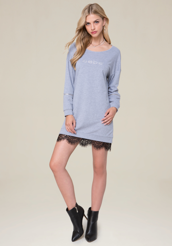 Heathered Popover Dress at bebe in Sherman Oaks, CA | Tuggl