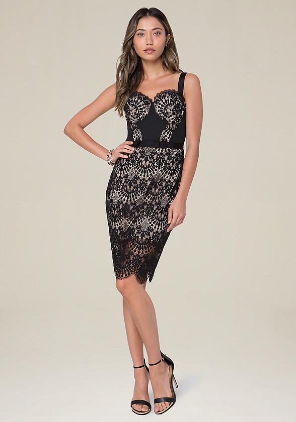 Carissa Lace Bustier Dress