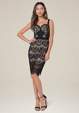 bebe Carissa Lace Bustier Dress