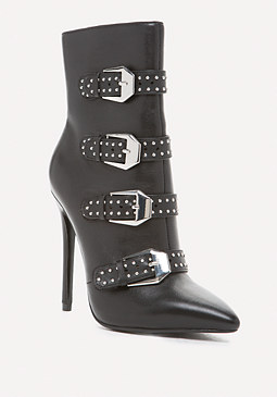 bebe Isabella Leather Booties