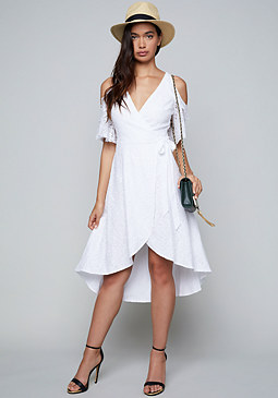 bebe Lace Wrap Dress