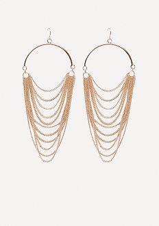 Draped Chain Earrings