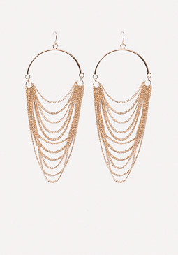 bebe Draped Chain Earrings