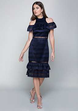 bebe Layne Tiered Ruffle Dress