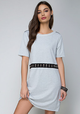 bebe Terry Hook-and-Eye Dress