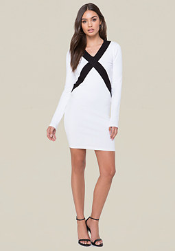 bebe Logo Colorblock Dress