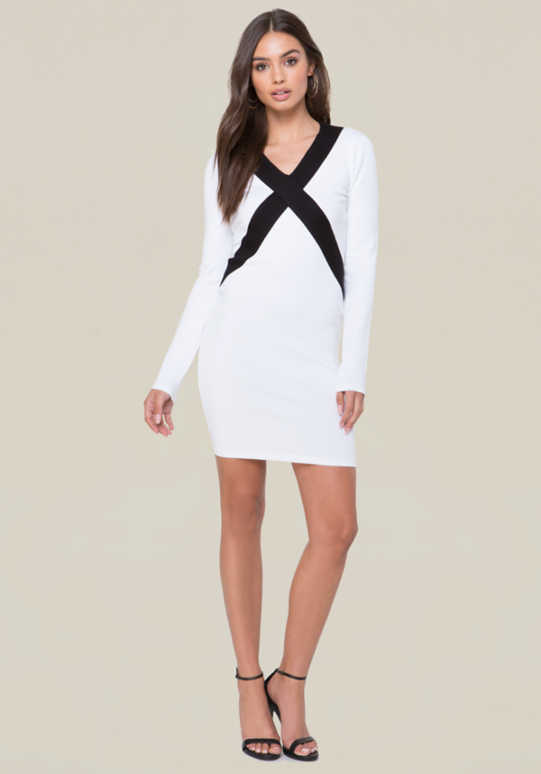 Logo Colorblock Dress at bebe in Sherman Oaks, CA | Tuggl