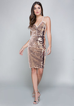bebe Danny Sequin Dress