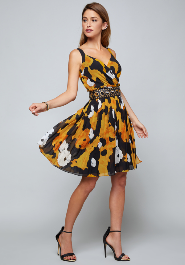 Alex Pleated Day Dress at bebe in Sherman Oaks, CA | Tuggl