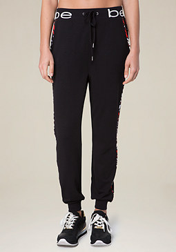 bebe Logo Brooklyn Jogger Pants