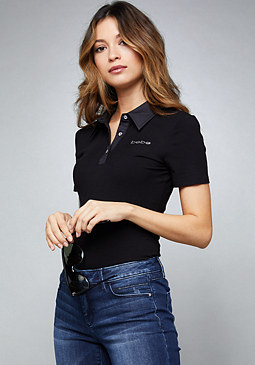 bebe Logo Polo Shirt