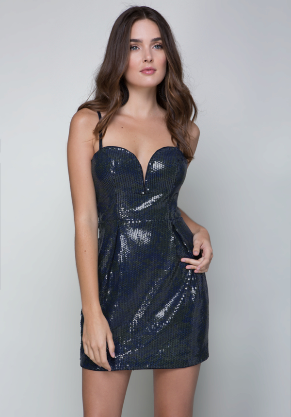Sequin Strapless Dress at bebe in Sherman Oaks, CA | Tuggl