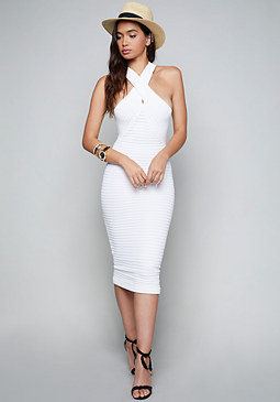 bebe Diana Halter Dress