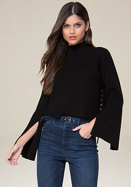 bebe Side Lace Up Sweater