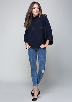 bebe Oversize Funnel Sweater