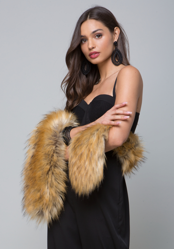 Luxe Faux Fur Scarf at bebe in Sherman Oaks, CA | Tuggl