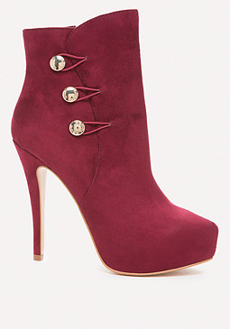 bebe Button Up Booties