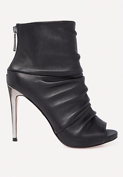 bebe Angelynne Leather Booties