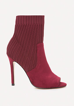 bebe Sadie Knit Open Toe Booties