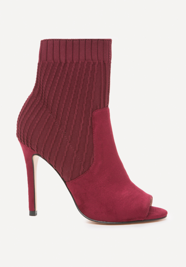 Sadie Knit Open Toe Booties | Tuggl