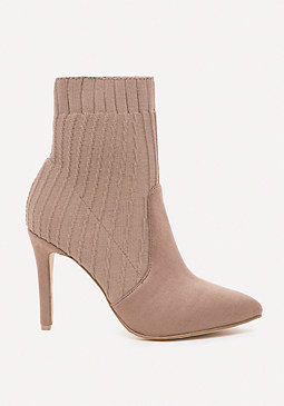 bebe Amaya Knit Pointy Booties
