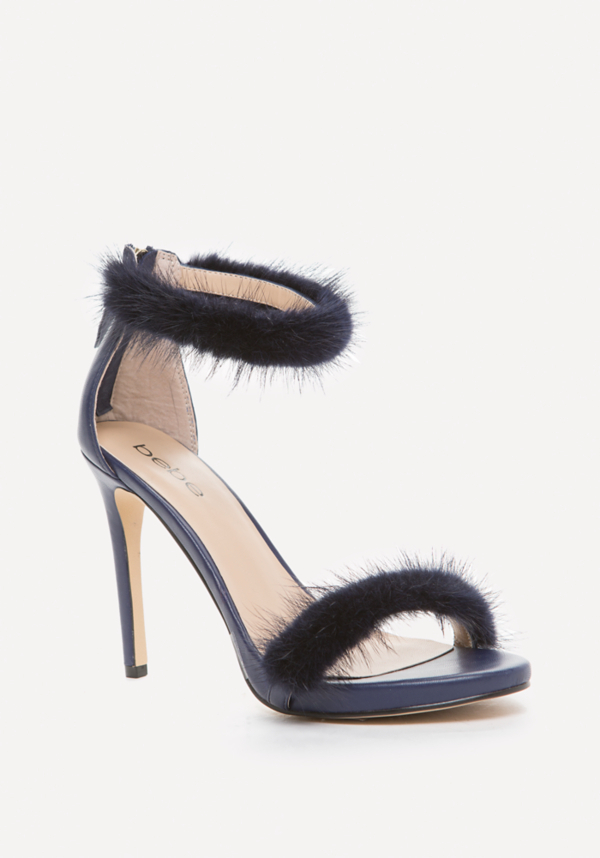 Paaris Faux Fur Sandals at bebe in Sherman Oaks, CA | Tuggl