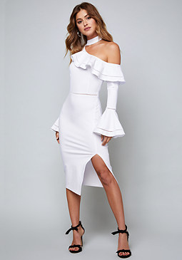 bebe Tricia One Shoulder Dress