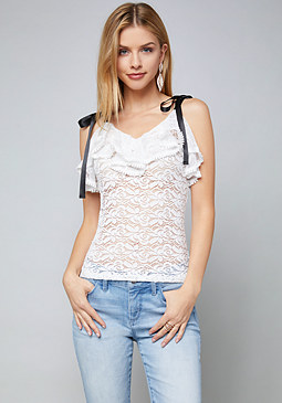 bebe Angela Lace Top