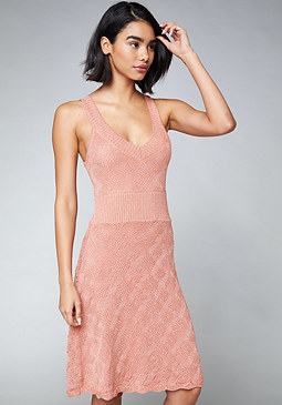 bebe Leona Lace Up Dress