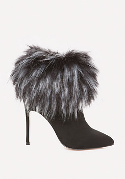 bebe Mynka Faux Fur Booties