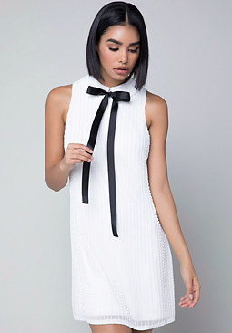 bebe Beaded White Dress