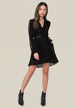 bebe Burnout Wrap Dress
