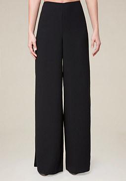 bebe Slit Wide Leg Pants