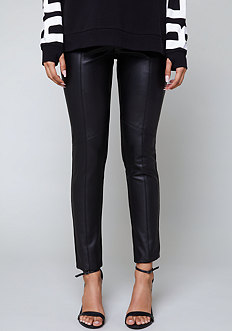 Bebe Front Faux Leather Leggings