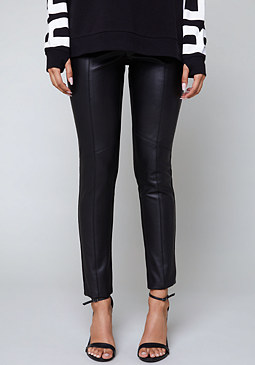 bebe Front Faux Leather Leggings