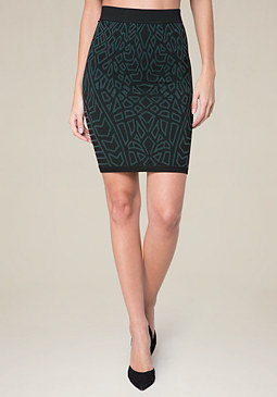 bebe Tribal Bodycon Skirt