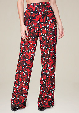 bebe Wide Leg High Waist Pants