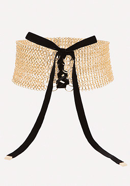 bebe Chainmail Belt