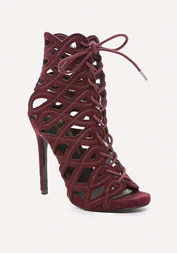 bebe Kimmie Swirl Cage Booties